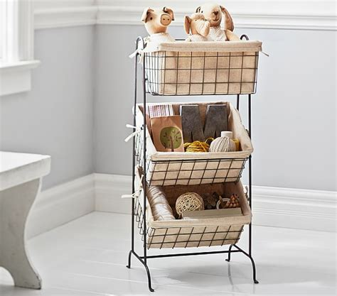 Etagere Draht by Wire Basket Etagere Pottery Barn