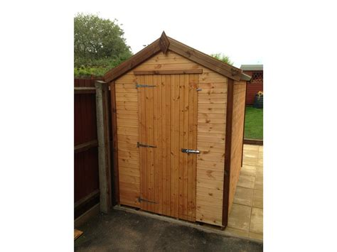 7x5 Wooden Shed by Shedpa Wooden Garden Sheds 12x10