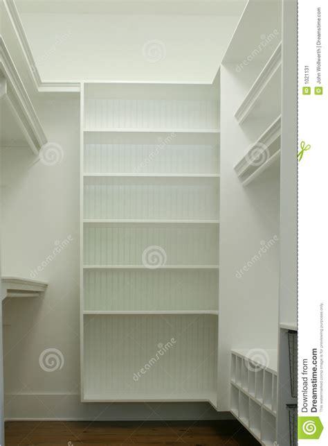 walk  closet stock image image  hang shelf house