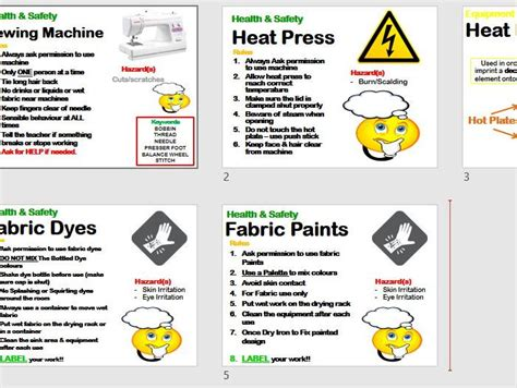 classroom layout health and safety design technology textiles classroom safety hazard