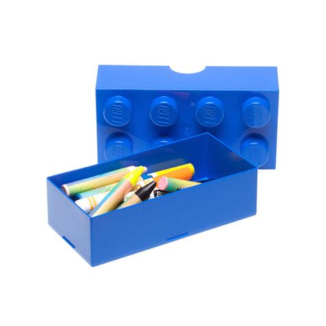 Storage Box Miniso lego mini storage box new 8 blue brick free p p ebay