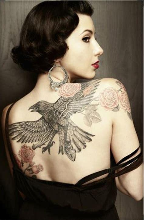 Tattoo Girl Raven | 55 artistic raven tattoo designs