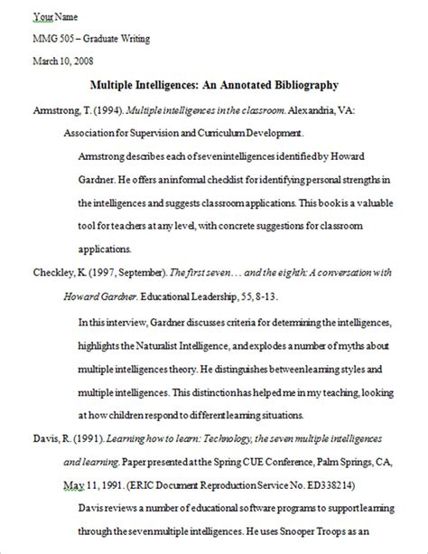 annotated bibliography template annotated bibliography templates free word pdf format
