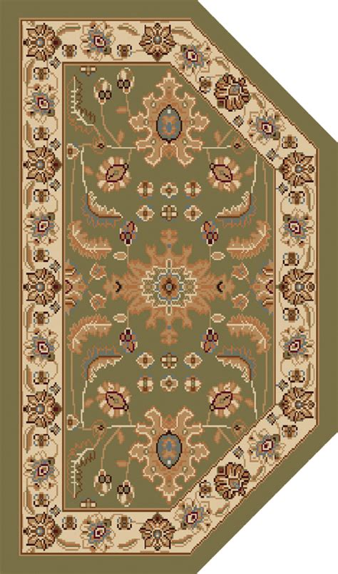 Green Oriental Area Rug 2x3 Hearth Persian Ivory 3206 Area Rugs 2x3