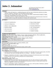 it resume exles it help desk resume sle resume downloads
