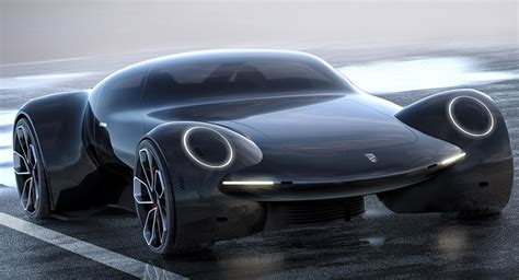 electric porsche supercar porsche 9e1 study envisions an all electric future hypercar