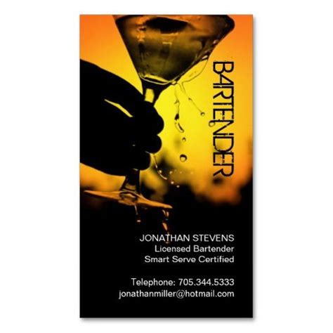 bartender business card template 1000 images about bartender business cards on