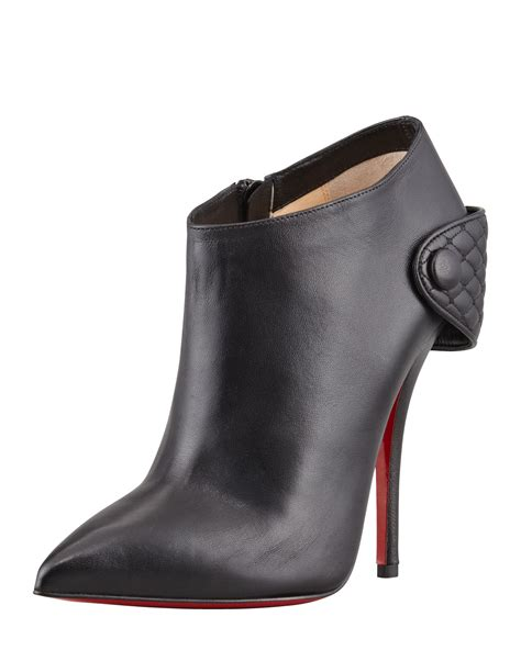 christian louboutin ankle boots christian louboutin huguette leather ankle boot in black