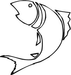 Fish Outline by Fish Drawing Outline Clipart Best