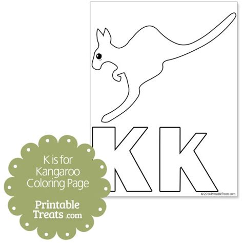 K Kangaroo Coloring Page by K Is For Kangaroo Coloring Page Www Imgkid The