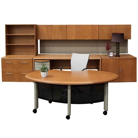 Office Desk Set Haworth Used Cherry Desk Set