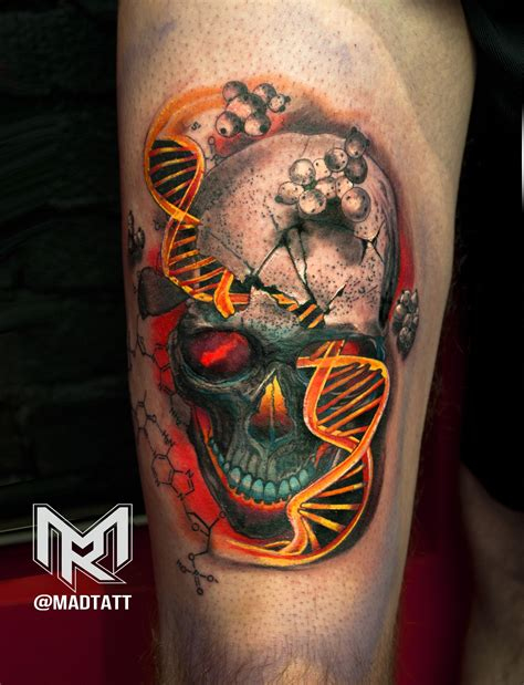 double helix tattoo skull and helix my portfolio
