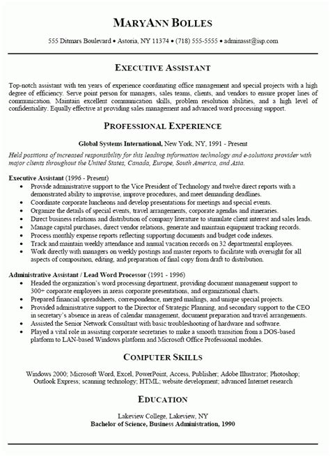 Best Resume Sles For Administrative Assistant Administrative Assistant Resume Objective Best Business Template With Regard To