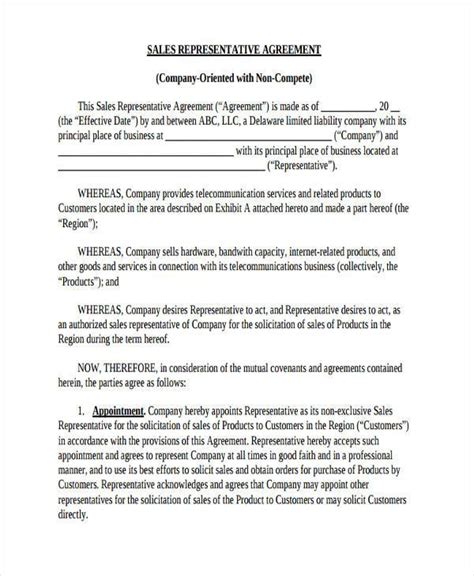 Sales Non Compete Agreement Template 10 Non Compete Agreement Form Sles Free Sle Exle Format Download