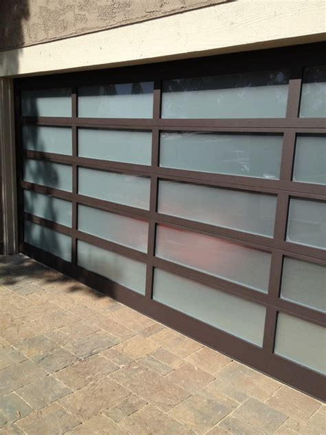 Modern Glass Garage Doors by Glass Garage Door Modern Shed San Diego