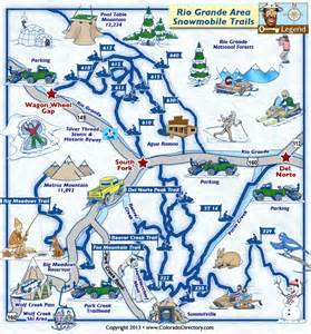 map south fork colorado area south fork norte snowmobile trails map colorado