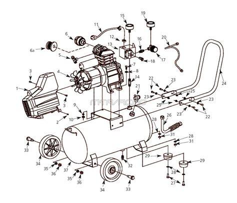 husky hl410100 and hl410100aj air compressor parts