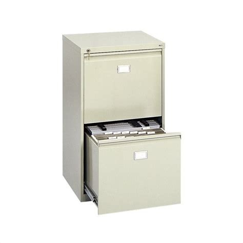 2 Drawer Vertical Metal File Cabinet in Tropic Sand   5039