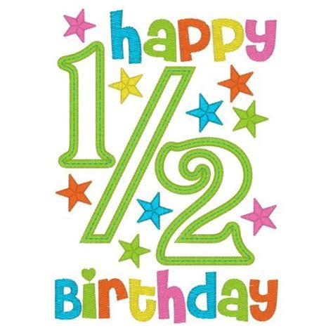 Happy 1 Month Birthday Card Happy 1 2 Birthday Boy Applique Embroidery Pinterest