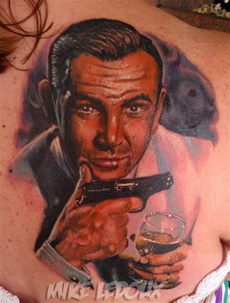 james bond tattoo powerline tattoos mike ledoux 007 bond