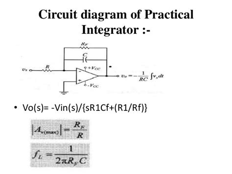 integrator circuit time constant integrator and differentiator op