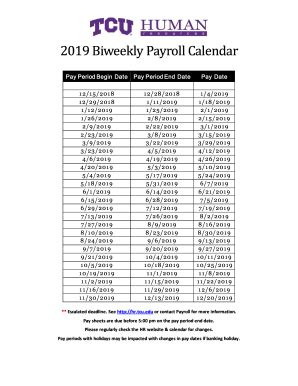 biweekly payroll calendar template fill  printable fillable blank pdffiller