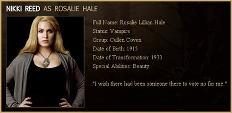 biography of twilight movie new moon rosalie hale quotes quotesgram