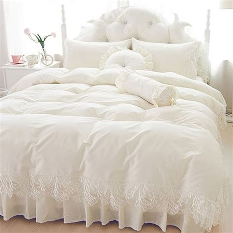 buy luxury tribute silk lace bedspread princess bedding sets queen king size