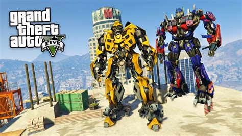 mod gta 5 transformers transformers bumblebee optimus prime gta 5 mods