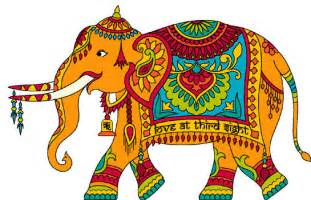 Painted india elephant cross stitch from losangelesneedlework com