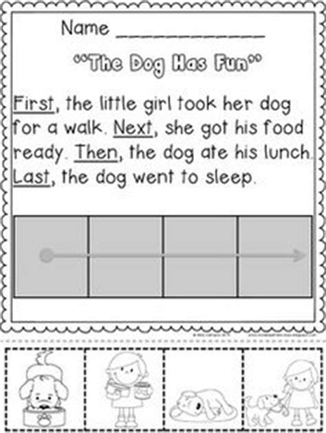 then next finally worksheet read and sequence the simple story cut and past the pictures in order tons of and