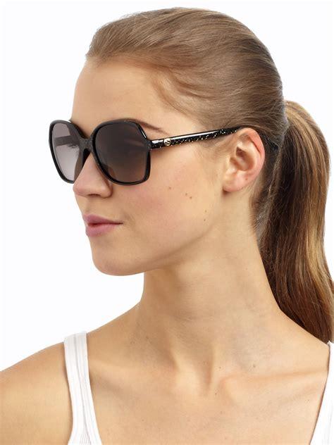 Square Oversized Sunglasses Black lyst gucci optyl oversized square sunglasses in black