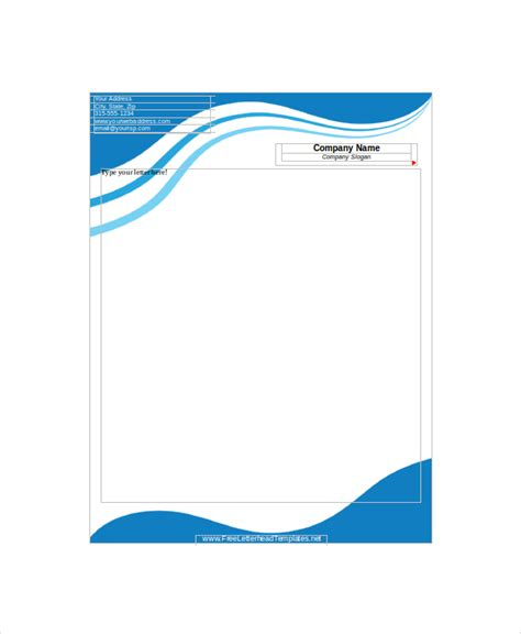 letter headed paper template