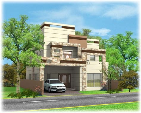 3d front elevation com 10 marla contemporary house design casatreschic interior wapda town 10 marla 3d front