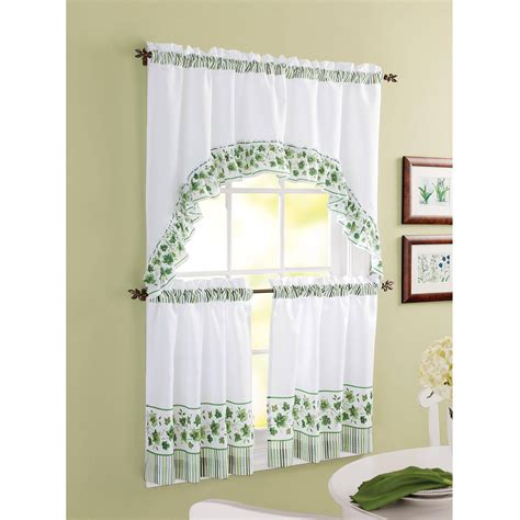 Pictures Of Kitchen Curtains Chf You Morning Rooster Tier Curtain Panel Set Walmart