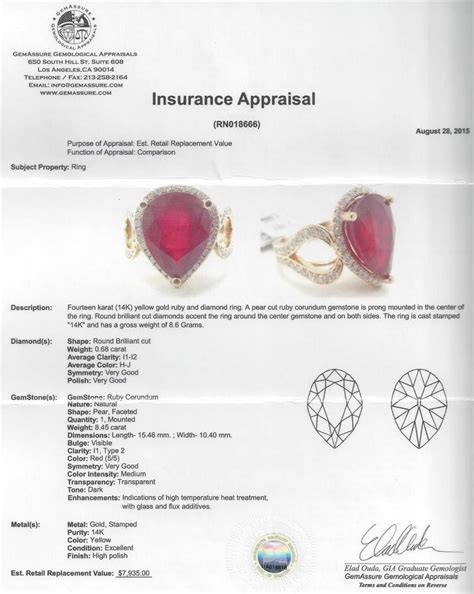 Ruby 7 45ct 8 45ct ruby and ring 14kt yellow gold