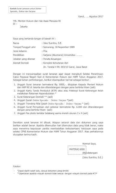 download format lop surat word format lop lamaran cpns 2017 download contoh format