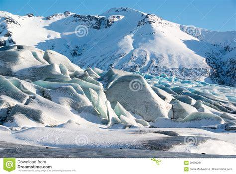 fotos islandia invierno el hielo azul del glaciar en invierno islandia de
