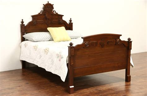 victorian bed victorian carved walnut 1875 antique full size bed ebay