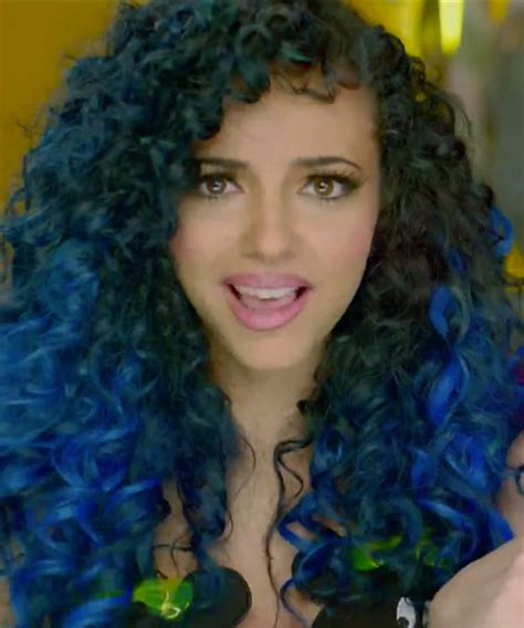 dyed curly hairstyles jade thirlwall black blue hair curly fun hair