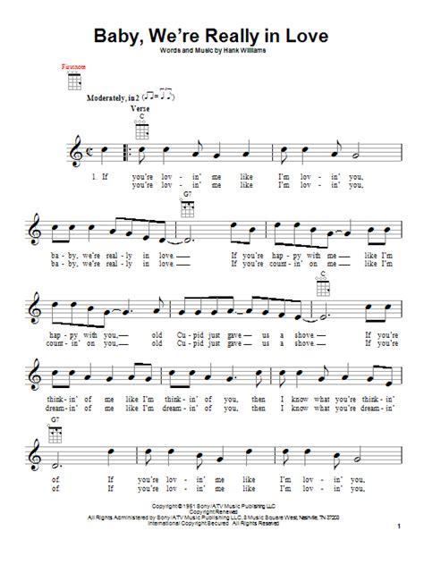 baby shark ukulele tab baby we re really in love by hank williams ukulele
