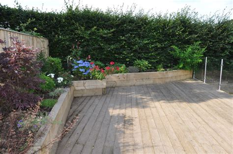 Heavy Duty Outdoor Rugs Raised Planters Constructed From Sleepers Form Edging To