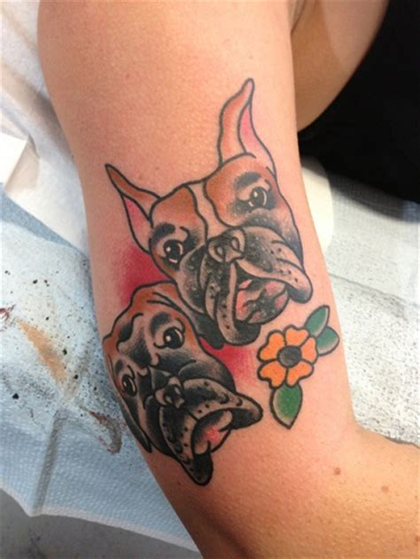 boxer dog tattoo designs the 12 coolest boxer designs in the world
