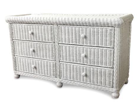 White Wicker Dresser by Wicker 6 Drawer Dresser Elana Wicker Paradise