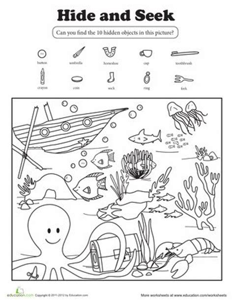 oceans activities worksheets printables and lesson plans hide and seek hidden pictures hidden objects and pictures