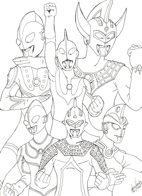 ultraman coloring pages printable ultraman zero free coloring pages
