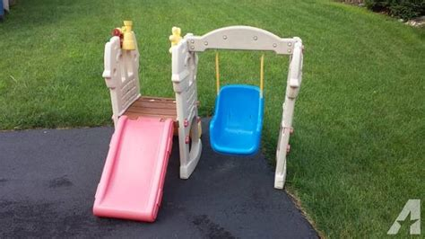 baby swing and slide set baby toddler swing set with slide for sale in