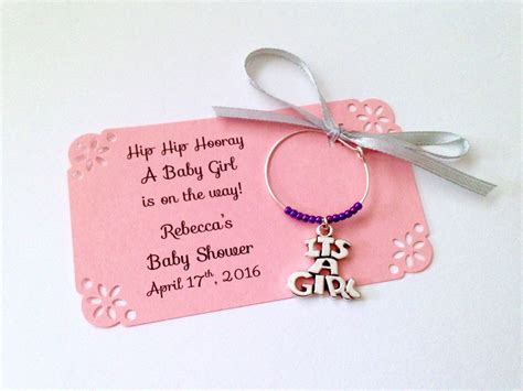 Baby Shower Wine Charms by It S A Baby Shower Wine Charm Favors 1 Charm Set It