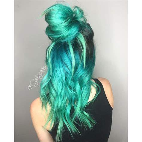 mixed hair colors 1000 ideas about blue hair colors on