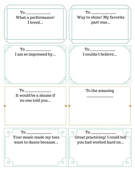 Free Printable Compliment Cards compliment exchange 4dpianoteaching